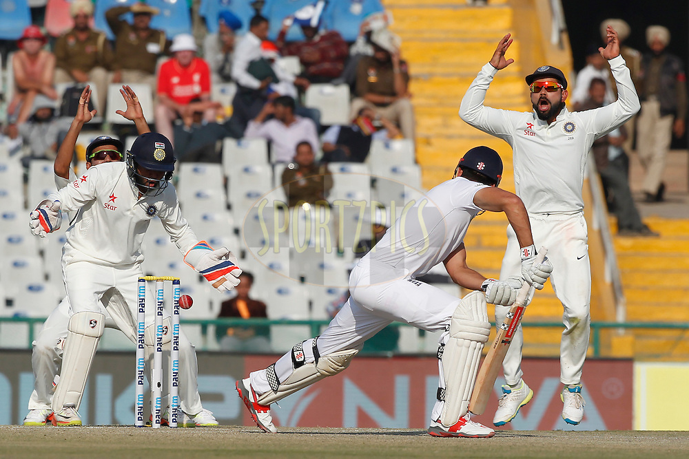 Virat Kohli Captain of India reacts during day 3 of the third test match between India and England held at the Punjab Cricket Association IS Bindra Stadium, Mohali on the 28th November 2016.<br /> <br /> Photo by: Deepak Malik/ BCCI/ SPORTZPICS