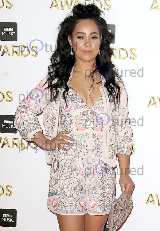 Kyla, BBC Music Awards 2016, Excel Centre, London UK, 12 December 2016, Photo by Brett D. Cove