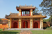 Bell tower and gateway near Mieu Temple, Hue Citadel / Imperial City, Hue, Vietnam