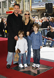Russell Crowe wife Danielle Spencer and kids as Crowe is honored with a star on the Hollywood Walk of Fame, California