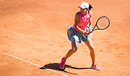Shuai Zhang of China in action during the first round of the 2021 Internazionali BNL d'Italia, WTA 1000 tennis tournament on May 10, 2021 at Foro Italico in Rome, Italy - Photo Rob Prange / Spain ProSportsImages / DPPI / ProSportsImages / DPPI