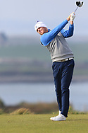 Matthew McClean (Malone) on the 1st tee during Round 3 of The West of Ireland Open Championship in Co. Sligo Golf Club, Rosses Point, Sligo on Saturday 6th April 2019.<br /> Picture:  Thos Caffrey / www.golffile.ie