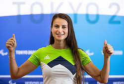 TOKYO, JAPAN --AUGUST 26: Brina Bozic of Team Slovenia posing during photo session at Paralympic village on day 2 of the Tokyo 2020 Paralympic Games on August 26, 2021 in Tokyo, Japan. Photo by Vid Ponikvar / Sportida