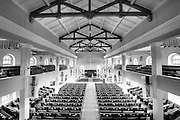 The interior of the Kawaiaha'o Church in Honolulu.