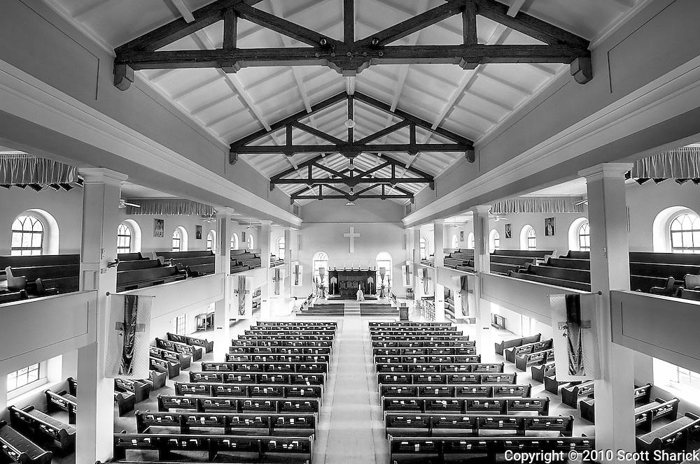 The interior of the Kawaiaha'o Church in Honolulu.