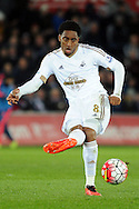 Swansea's Leroy Fer in action. Barclays Premier league match, Swansea city v Aston Villa at the Liberty Stadium in Swansea, South Wales on Saturday 19th March 2016.<br /> pic by  Carl Robertson, Andrew Orchard sports photography.