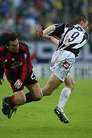 Siena 17/4/2004 Campionato Italiano Serie A <br />30a Giornata - Matchday 30 <br />SIENA MILAN <br />PRILO E FLO<br /> Foto Andrea Staccioli Graffiti