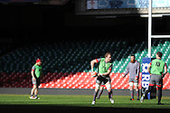 Alun Wyn Jones of Wales  during the Wales rugby team captains run at the Millennium Stadium, Cardiff, South Wales on Thursday 20th Feb 2014. pic by Andrew Orchard, Andrew Orchard sports photography.