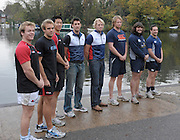 [Mandatory Credit Peter Spurrier Intersport Images]Molesey Surrey.  Ergo Challenge CU RFC vs OU RFC,  Varsity Rugby  right, Oxford lead by Andy HODGE and Cambridge by Tom JAMES meet at Molesey BC, to compete in  1500m challenge [3 x 500-meters]  Wednesday  11/11/2009 [Mandatory Credit Peter Spurrier/ Intersport Images]  Oxford University RFC, Dan ROSEN [CAPT] Ricky LUTTON and Ian KENCH. Cambridge University, James GREENWOOD, Sandy REID and Predee ANUVATNUJOTIKUL