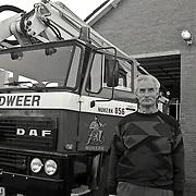 NLD/Nijkerk/19921228 - Dhr.van Wijk, commandant brandweer Nijkerk