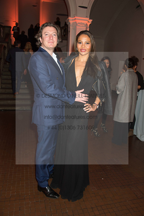 VISCOUNT & VISCOUNTESS WEYMOUTH at a dinner to celebrate Sir David Tang's 20 year patronage of the Royal Academy of Arts and the start of building work on the Burlington Gardens wing of the Royal Academy held at 6 Burlington Gardens, London on 26th October 2015.