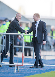 Falkirk's manager Gary Holt at the end.<br /> Falkirk 2 v 1 Raith Rovers, Scottish Championship game played today at The Falkirk Stadium.<br /> © Michael Schofield.