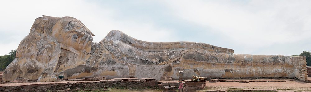 A Panorama of the biggest buddha statue in Thailand. Found at ancient Ayutthaya city.