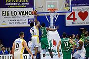 Faust Nicholas Lawal Shane<br /> Betaland Capo d'Orlando - Sidigas Avellino <br /> Campionato Basket Lega A 2017-18 <br /> Capo d'Orlando 22/04/2018<br /> Foto Ciamillo-Castoria
