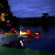Kayakers on the glowworm tour with Waimarino adventure tours, 3rd December, 2010 .New Zealand,,  Photo Tim Clayton