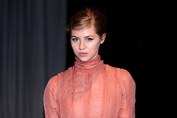 Hermione Corfield attending the Burberry London Fashion Week Show at Makers House, Manette Street, London.