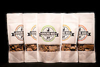 Barking Mad Baking Company dog treat packaging by Connecticut product photographer Michael Bagley.