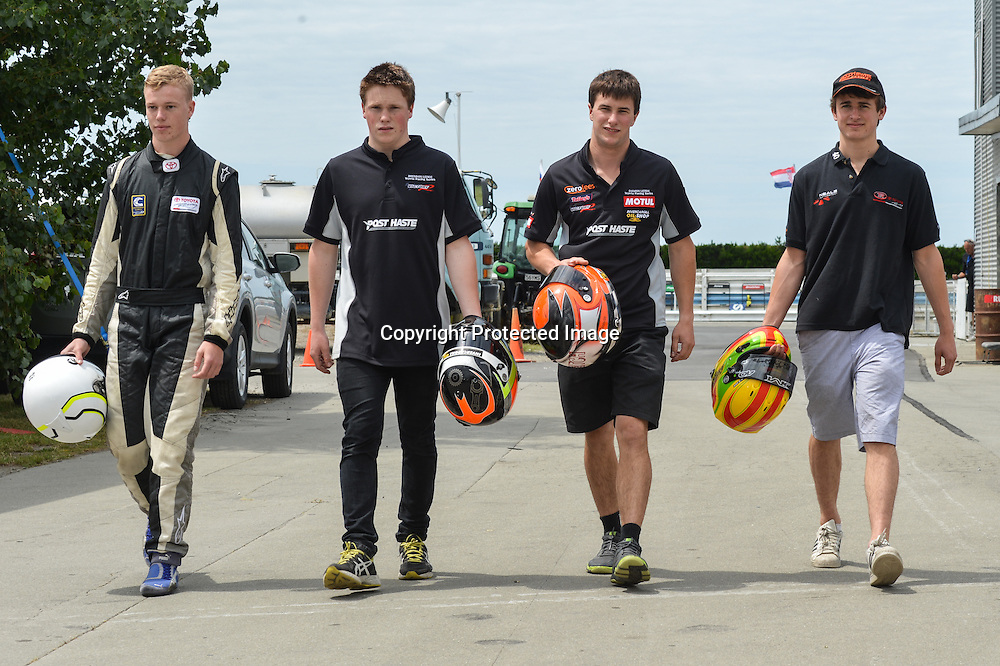 James Munro, Michael Scott, Brendon Leitch and Damon Leitch, New Zealand drivers in the 2014 TRS series