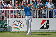 Charl Schwartzel (RSA) watches his tee shot on 14 during 2nd round of the World Golf Championships - Bridgestone Invitational, at the Firestone Country Club, Akron, Ohio. 8/3/2018.<br /> Picture: Golffile | Ken Murray<br /> <br /> <br /> All photo usage must carry mandatory copyright credit (© Golffile | Ken Murray)