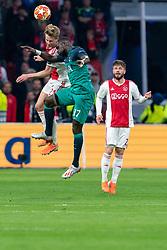 08-05-2019 NED: Semi Final Champions League AFC Ajax - Tottenham Hotspur, Amsterdam<br /> After a dramatic ending, Ajax has not been able to reach the final of the Champions League. In the final second Tottenham Hotspur scored 3-2 / Frenkie de Jong #21 of Ajax, Moussa Sissoko #17 of Tottenham Hotspur, Lasse Schone #20 of Ajax