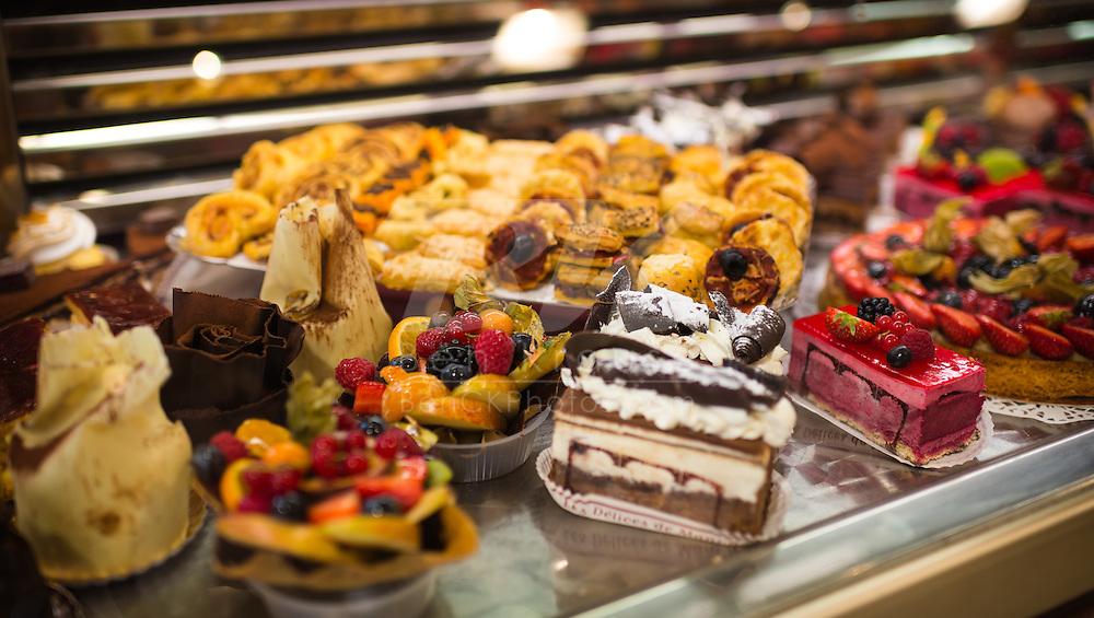Pastries on display in Paris, France.