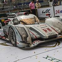 #1 Audi  R18 e-tron quattro 3.7l Turbo V6 (Hybrid Diesel), Audi Sport Team Joest, drivers: Andre Lotterer, Marcel Fassler, Benoic Treluyer, Le Mans 24H, 2012