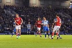 Derrick Williams of Bristol City scores to make it 1-0 - Mandatory byline: Dougie Allward/JMP - 07966 386802 - 20/10/2015 - FOOTBALL - American Express Community Stadium - Brighton, England - Brighton v Bristol City - Sky Bet Championship