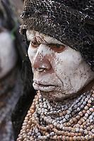 Villager in Mount Hagen, Western Highlands Province, Papua New Guinea.