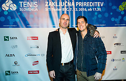 Ziga Ham Kacin and Andraz Bedene at Slovenian Tennis personality of the year 2016 annual awards presented by Slovene Tennis Association Tenis Slovenija, on December 7, 2016 in Siti Teater, Ljubljana, Slovenia. Photo by Vid Ponikvar / Sportida