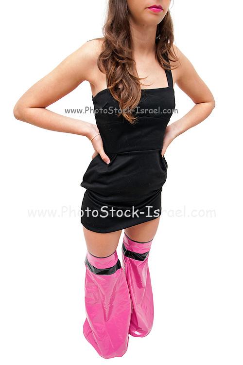 Fashionable teen Mid body crop