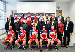 Team photo during press conference and presentation of cycling club KK Adria Mobil for season 2016, on March 3, 2016 in Novo mesto, Slovenia. Photo by Vid Ponikvar / Sportida