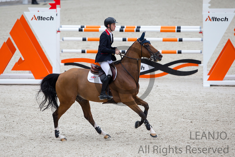Scott Brash - Hello Sanctos<br /> Alltech FEI World Equestrian Games™ 2014 - Normandy, France.<br /> © DigiShots