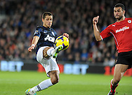 Javier Hernandez of Manchester United has a shot on goal.<br /> Barclays Premier League match, Cardiff city v Manchester Utd at the Cardiff city stadium in Cardiff, South Wales on Sunday 24th Nov 2013. pic by Phil Rees, Andrew Orchard sports photography,