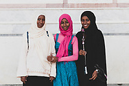 Sudanese girls from Khartoum, on vacation in Syria, pictured here at the Ummayad Mosque in Damascus.<br /><br />(June 11, 2010)