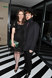 RICHARD JONES and SOPHIE ELLIS-BEXTOR at the InStyle Best of British Talent Event in association with Lancôme and Avenue 32 held at The Rooftop Restaurant, Shoreditch House, Ebor Street, London E1 on 30th January 2013.
