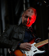 Runrig Live at Edinburgh Castle Esplanade 2008<br /> <br /> 26/07/08<br /> Malcolm  Jones  RUNRIG's Lead guitarist  Wow's the crowd with Old favouites and new song's from the Everything You See Album. At  Edinburgh Castle tonight,  Edinburgh.<br /> <br /> Picture by Mark Davison/ Universal News & Sport