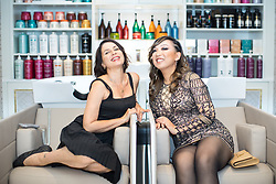 © Licensed to London News Pictures . 06/07/2017 . Manchester , UK . SADIE FROST and owner EVELYN CONG at the opening of new hair and beauty salon , Evelyn , on Spring Gardens in Manchester City Centre . The venue is reported to have cost £1,000,000 to build . Photo credit : Joel Goodman/LNP
