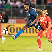 EAST HARTFORD, CONNECTICUT- October 16th:  Kellyn Acosta #23 of the United States challenged by Yoshimar Yotun #19 of Peru during the United States Vs Peru International Friendly soccer match at Pratt & Whitney Stadium, Rentschler Field on October 16th 2018 in East Hartford, Connecticut. (Photo by Tim Clayton/Corbis via Getty Images)