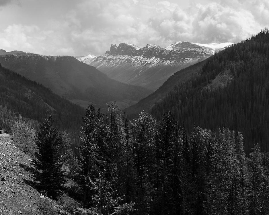 Yellowstone National Park, Wyoming.Eagle Peak is Center Frame