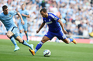 Eden Hazard of Chelsea in action. Barclays premier league match, Manchester city v Chelsea at the Etihad stadium in Manchester,Lancs on Sunday 21st Sept 2014<br /> pic by Andrew Orchard, Andrew Orchard sports photography.