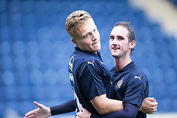 Falkirk's Peter Grant cele scoring their goal. Half time : Falkirk 1 v 1 East Fife, Petrofac Training Cup played 25th July 2015 at The Falkirk Stadium.