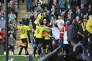 Burton Albion's Michael Kightly Celebrates his goal during the EFL Sky Bet Championship match between Burton Albion and Leeds United at the Pirelli Stadium, Burton upon Trent, England on 22 April 2017. Photo by John Potts.