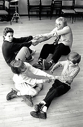 Common Ground theatre with disabled schoolchildren at Clarendon College, Nottingham UK 1990