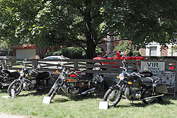 03 August 2013:  Part of Motorcycle row.<br /> <br /> Displayed at the McLean County Antique Automobile Association Car show at David Davis Mansion in Bloomington Illinois