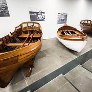 A display of three rowboats (caiques) used for recreation by Mustafa Kemal Ataturk, the first President of Turkey (1923-1938), with pictures of him using the boats on the wall in the background. The Istanbul Navy Museum dates back over a century but is now housed in a new purpose-built building on the banks of the Bosphorus. While ostensibly relating to Turkish naval history, the core of its collection consists of 14 imperial caiques, mostly from the 19th century, that are displayed on the main two floors of the museum.