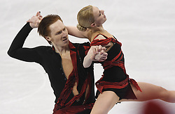 February 8, 2018 - Pyeongchang, South Korea - The Olympic Athletes of Russia pair of VLADIMIR MOROZOV and EVGENIA TARASOVA on their way to taking the highest score Friday, February 9, 2018, in the Pairs Short Program Team event event on opening day of the Figure Skating Team competition at the Winter Olympic Games in at the Gangneung Ice Arena in Pyeongchang, S. Korea. Photo by Mark Reis, ZUMA Press/The Gazette (Credit Image: © Mark Reis via ZUMA Wire)