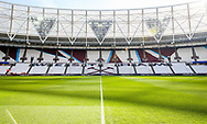General view inside the London Stadium during the Premier League match between West Ham United and Manchester United at the London Stadium, London, England on 29 September 2018.