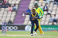 Cricket - 2019 ICC Cricket World Cup warm ups - Australia vs. Sri Lanka<br /> <br /> Jeffrey Vandersay of Sri Lanka catches the ball during the cricket world cup warm up match at the Hampshire Bowl Southampton England<br /> <br /> COLORSPORT/SHAUN BOGGUST