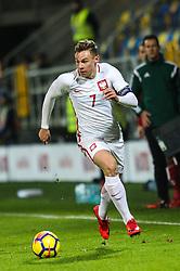 November 14, 2017 - Gdynia, Poland - Szymon Zurkowski (POL) during UEFA U21 Championship Qualifier match between Poland and Denmark on November 14, 2017 in Gdynia, Poland. (Credit Image: © Foto Olimpik/NurPhoto via ZUMA Press)