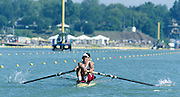 St Catherines, CANADA,  Men's Pair. CAN M2-. Dave CALDER and  Morgan CROOKS..1999 World Rowing Championships - Martindale Pond, Ontario. 08.1999..[Mandatory Credit; Peter Spurrier/Intersport-images]   ... 1999 FISA. World Rowing Championships, St Catherines, CANADA